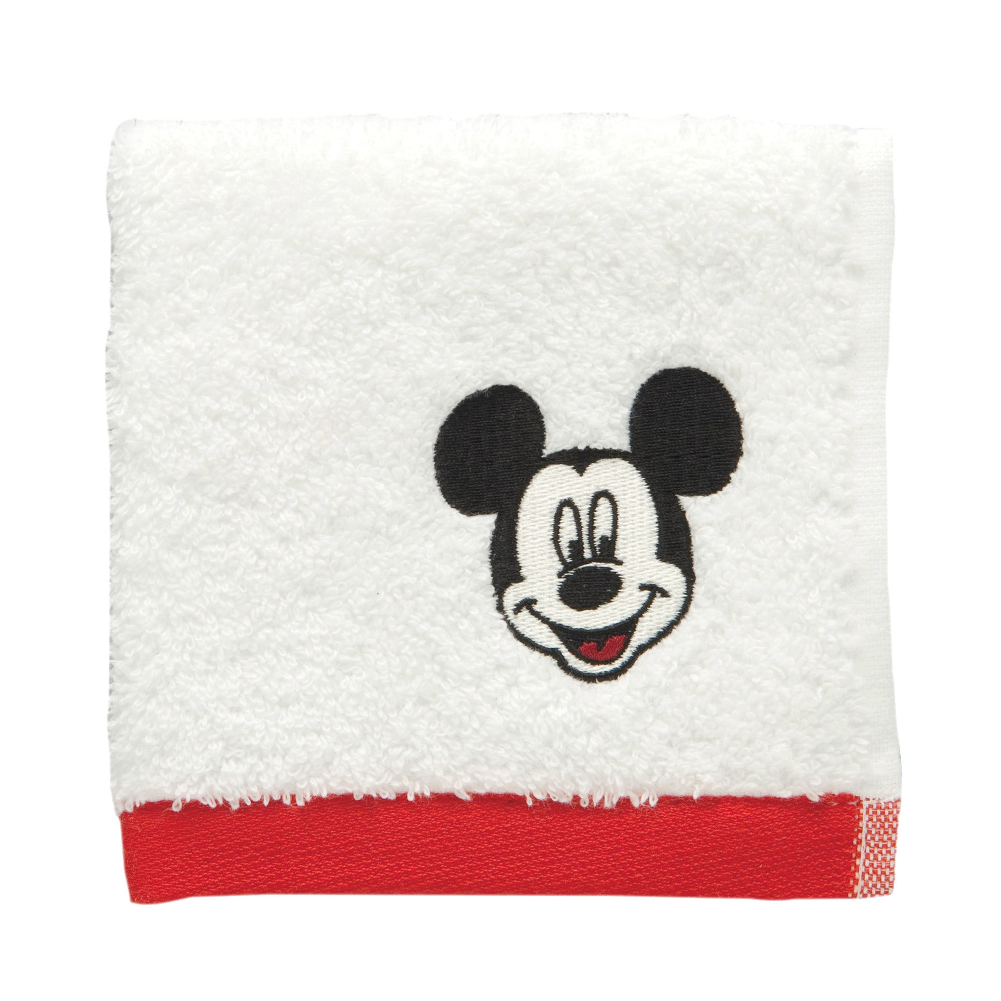 Disney Mickey Stitch Border Face Cloth
