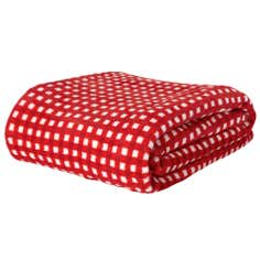 Seriously Soft Red Check Blanket
