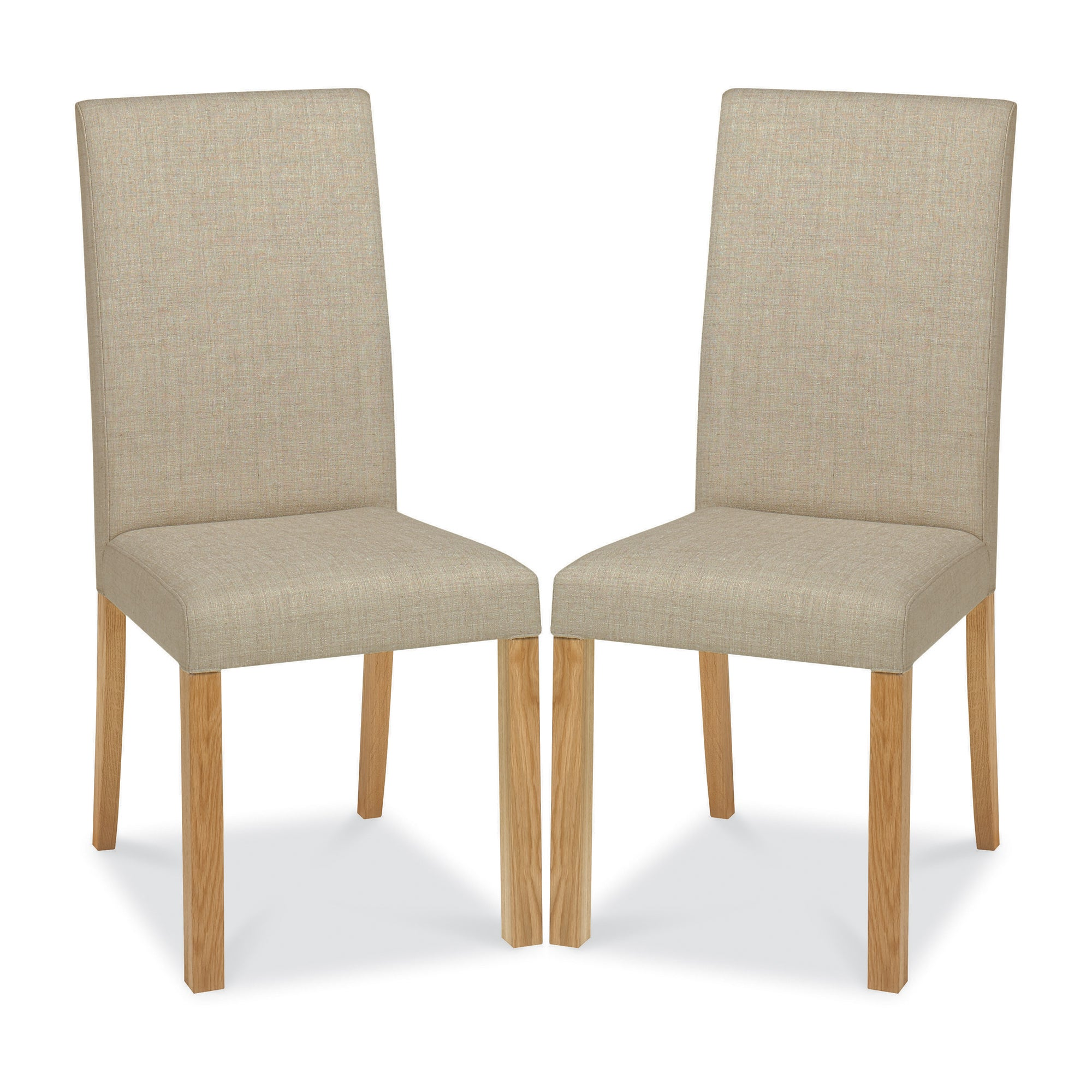 Knox Natural Oak Pair of Upholstered Chairs