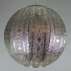 Nickel Aria Lace Ball Pendant Shade