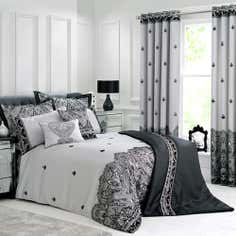 Grey Deco Flock Collection Bedspread