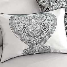Grey Deco Flock Collection Boudoir Cushion