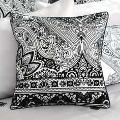 Grey Deco Flock Collection Square Cushion