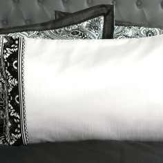 Grey Deco Flock Collection Housewife Pillowcase