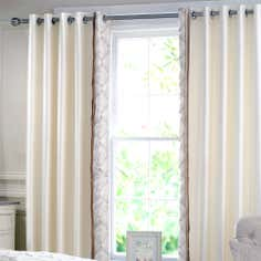Champagne Lalique Thermal Eyelet Curtains