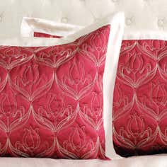 Red Lalique Collection Pillowsham