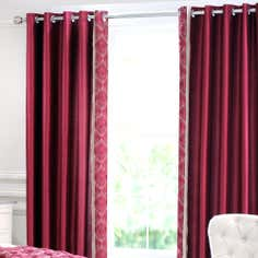 Lalique Red Thermal Eyelet Curtains