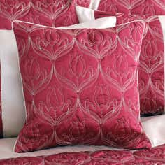 Red Lalique Collection Square Cushion