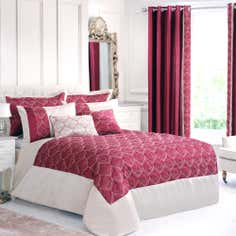 Red Lalique Collection Bedspread