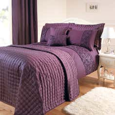 Aubergine Eliza Sparkle Collection Bedspread