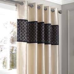 Black Franklin Thermal Eyelet Curtains