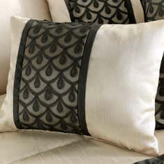 Black Franklin Collection Boudoir Cushion