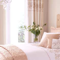 Gold Alura Thermal Eyelet Curtains