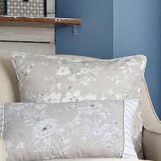 Blue Chateau Collection Square Cushion