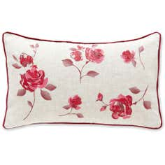 Red Country Rose Collection Boudoir Cushion