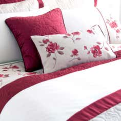 Red Country Rose Collection Square Cushion