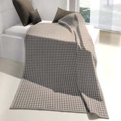 Taupe Gingham Thermosoft Throw