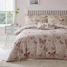 Blush Botanica Butterfly Collection Duvet Cover