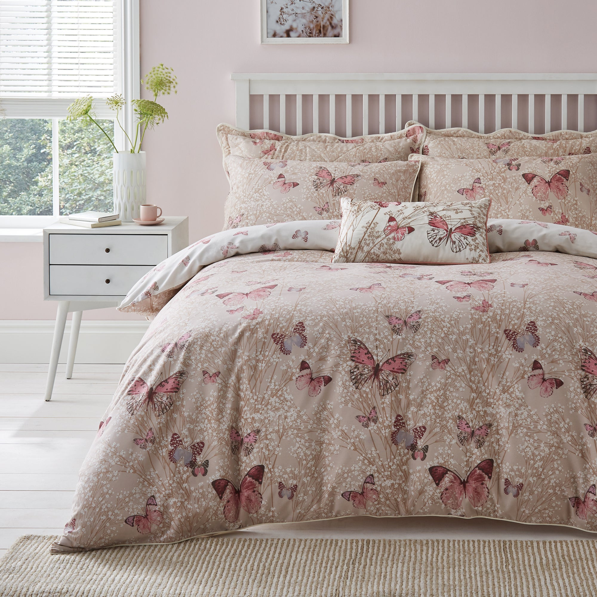Blush Botanica Butterfly Collection Duvet Cover Set