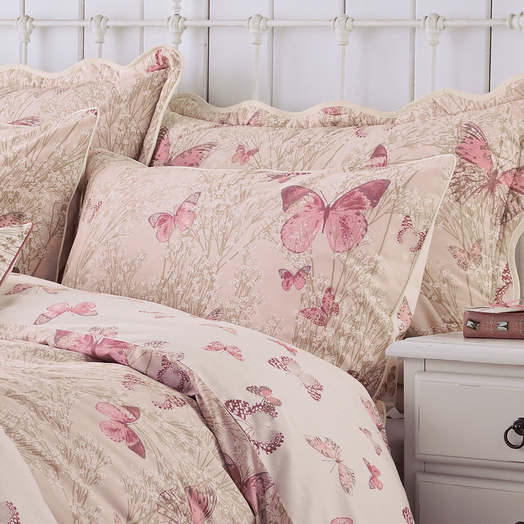 Blush Botanica Butterfly Collection Housewife Pillowcase