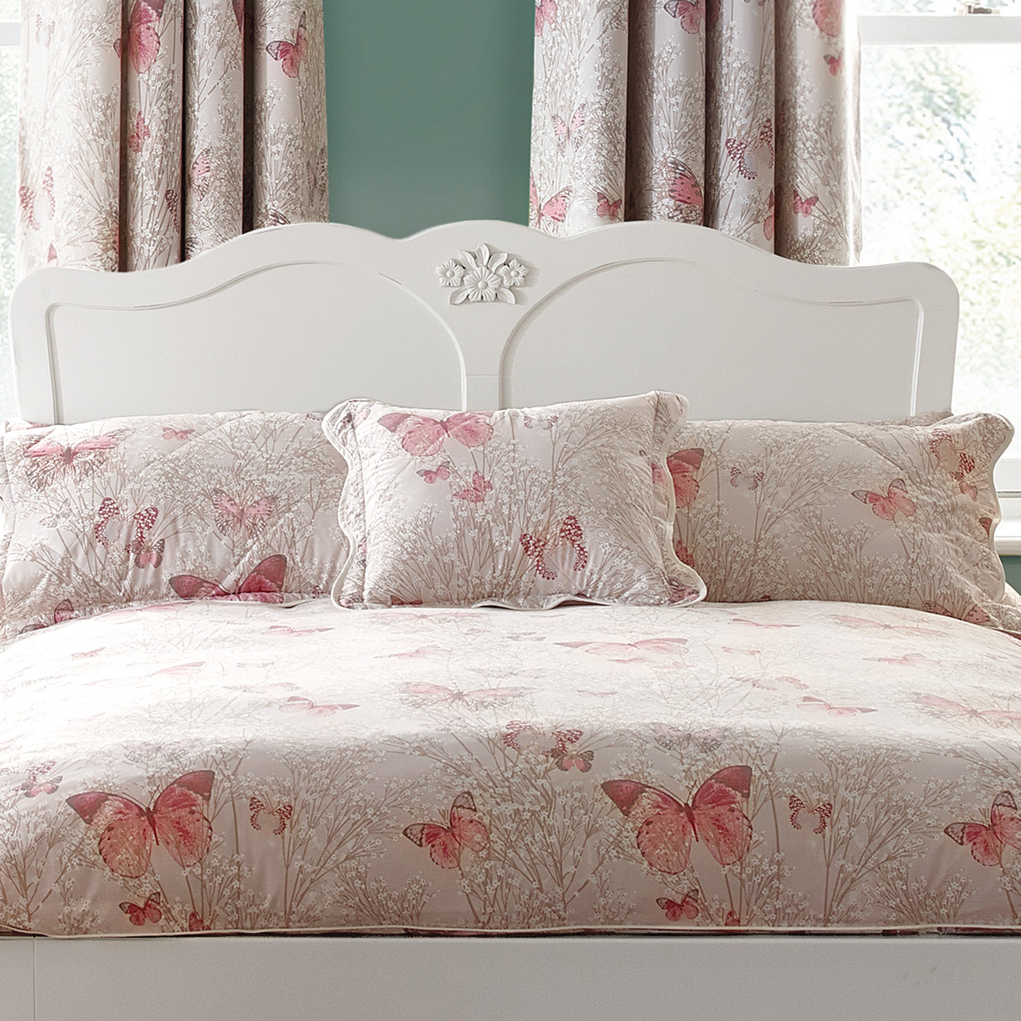Blush Botanica Butterfly Collection Square Cushion