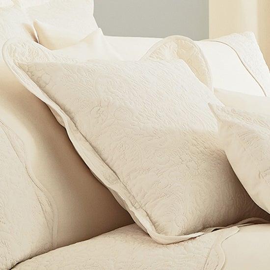 Cream Ebony Collection Square Oxford Cushion