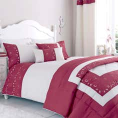 Red Felicity Collection Duvet Cover