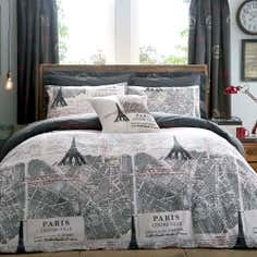 Charcoal La Tour Eiffel Collection Duvet Set