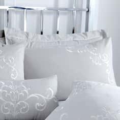 Grey Larna Collection Oxford Pillowcase