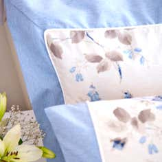 Blue Layla Collection Oxford Pillowcase