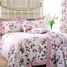 Pink Layla Collection Oxford Duvet Set