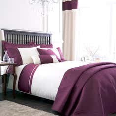 Plum Rimini Collection Duvet Cover