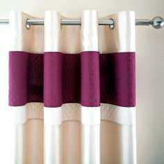 Plum Rimini Thermal Eyelet Curtains