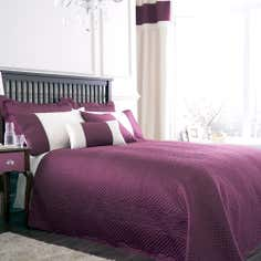 Plum Rimini Collection Bedspread