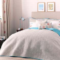 Teal Scandi Collection Bedspread