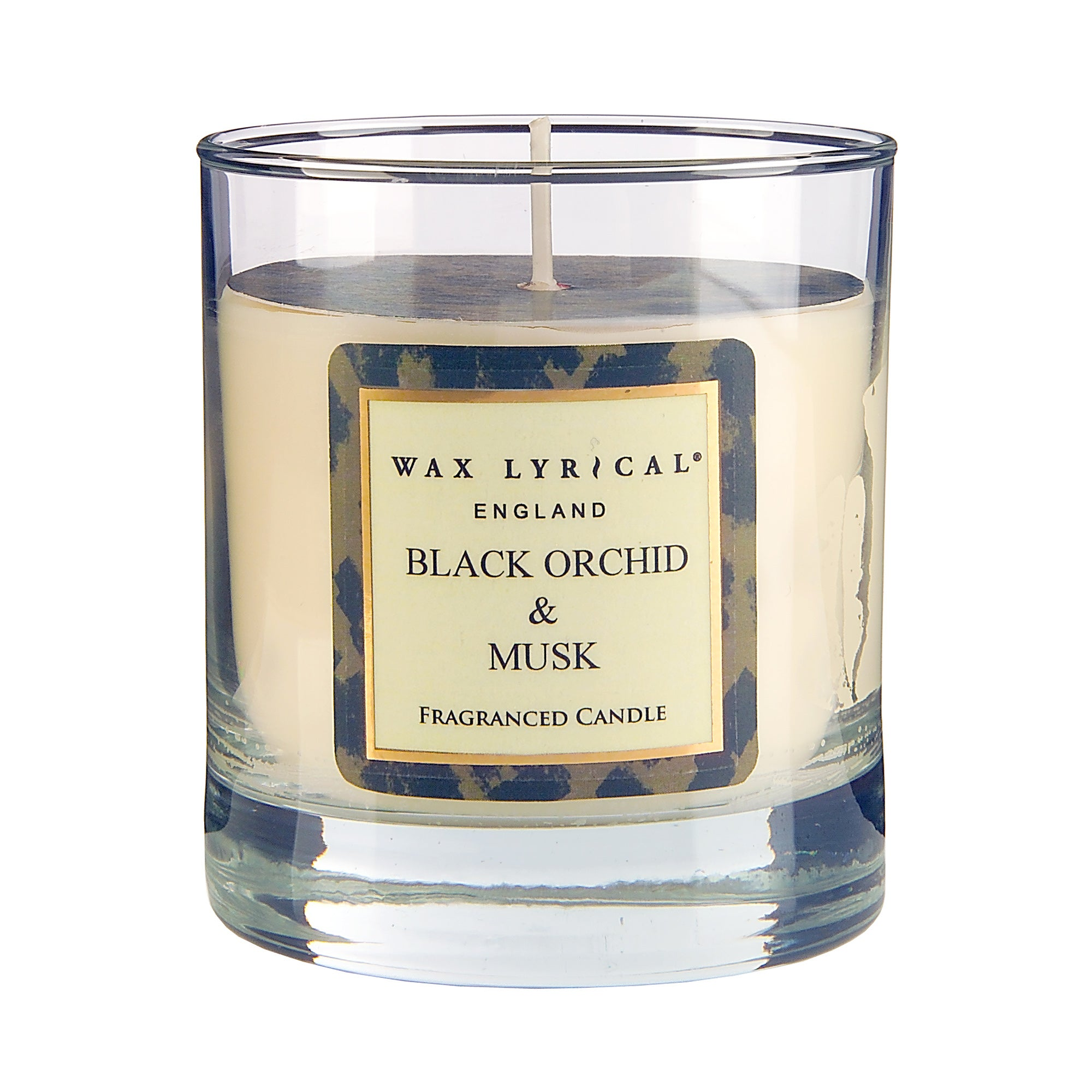 Wax Lyrical Black Orchid And Musk Glass Candle