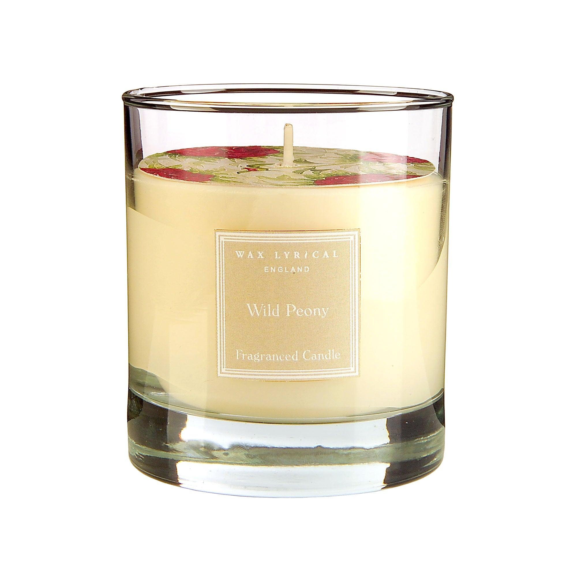 Wax Lyrical Wild Peony Glass Candle