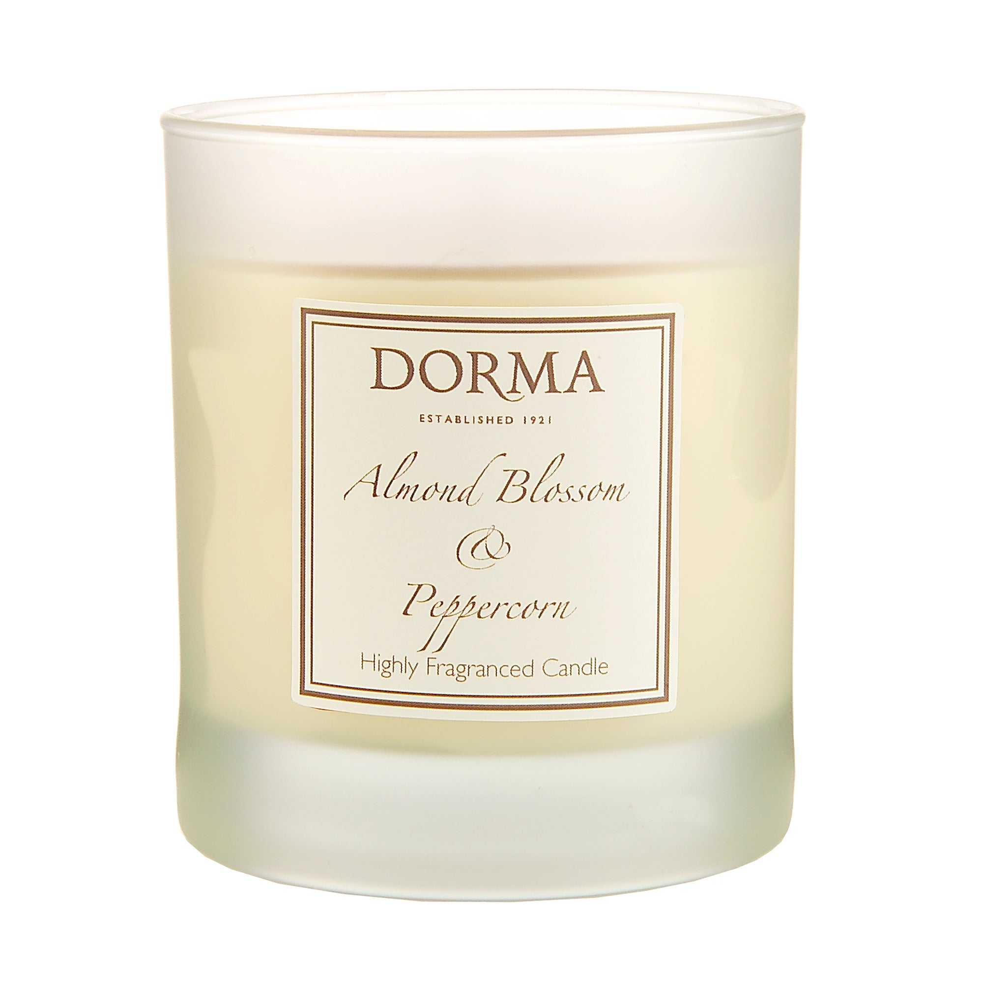 Dorma Almond Blossom and Peppercorn Wax Filled Glass Candle
