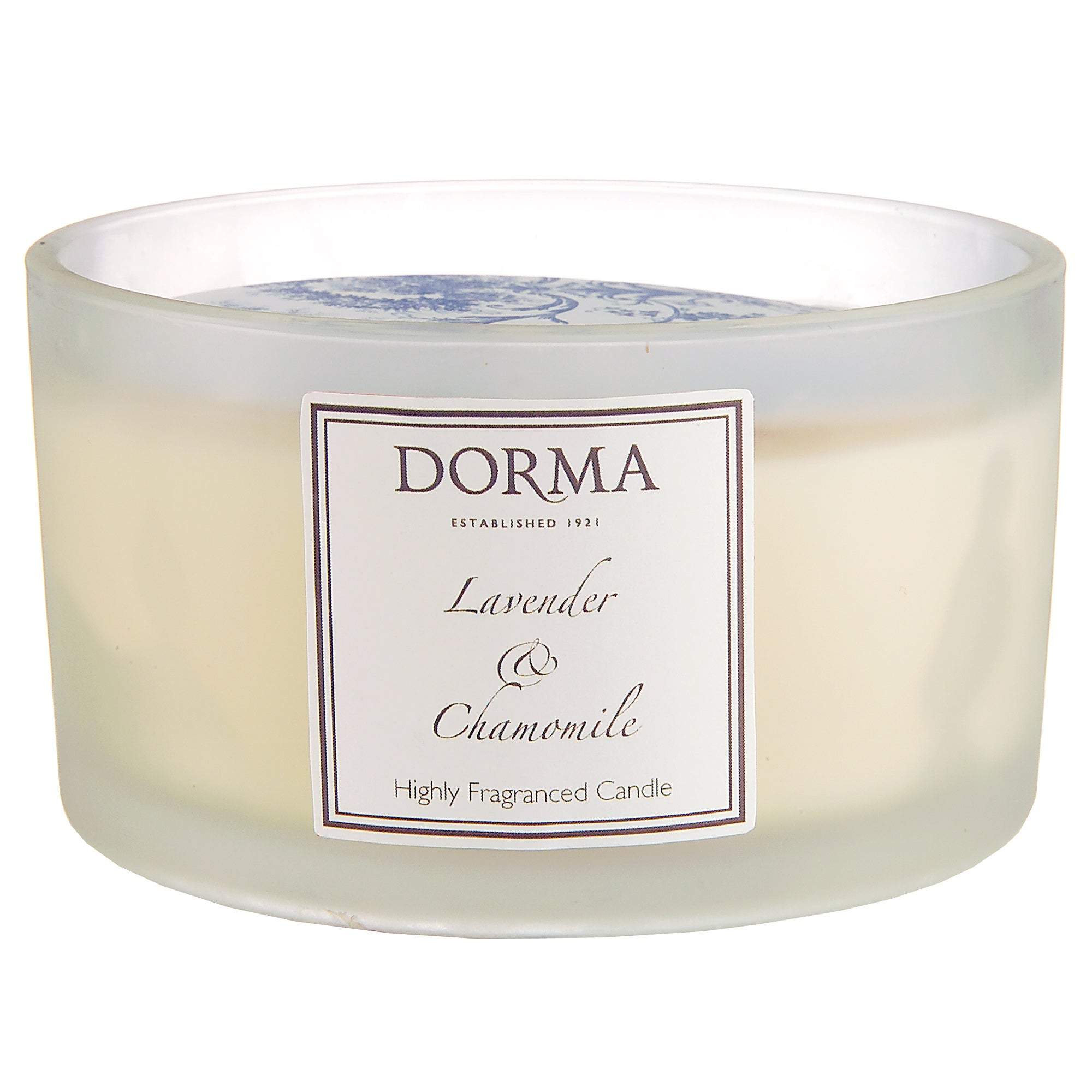 Dorma Lavender and Chamomile Wide Glass Candle