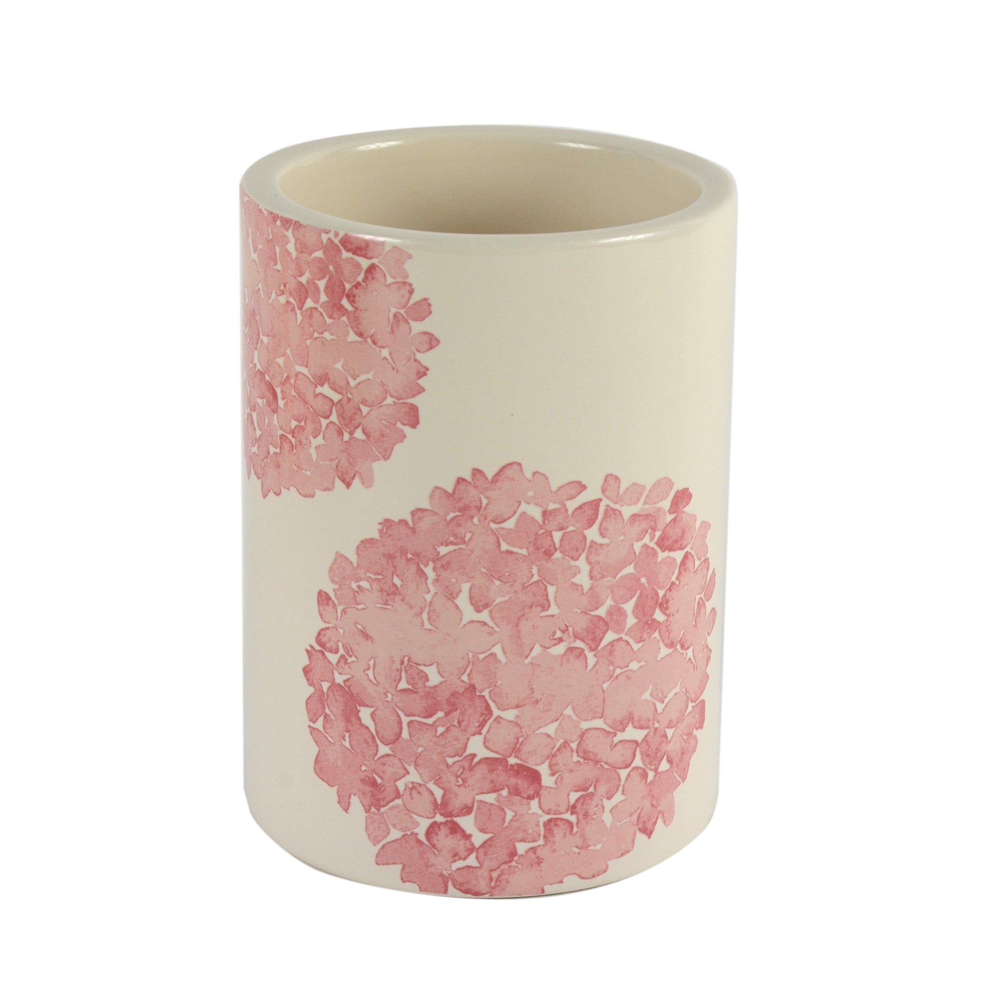 Cream Hydrangea Collection Toilet Brush Holder
