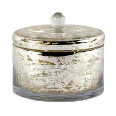 Metallic Glass Trinket Pot
