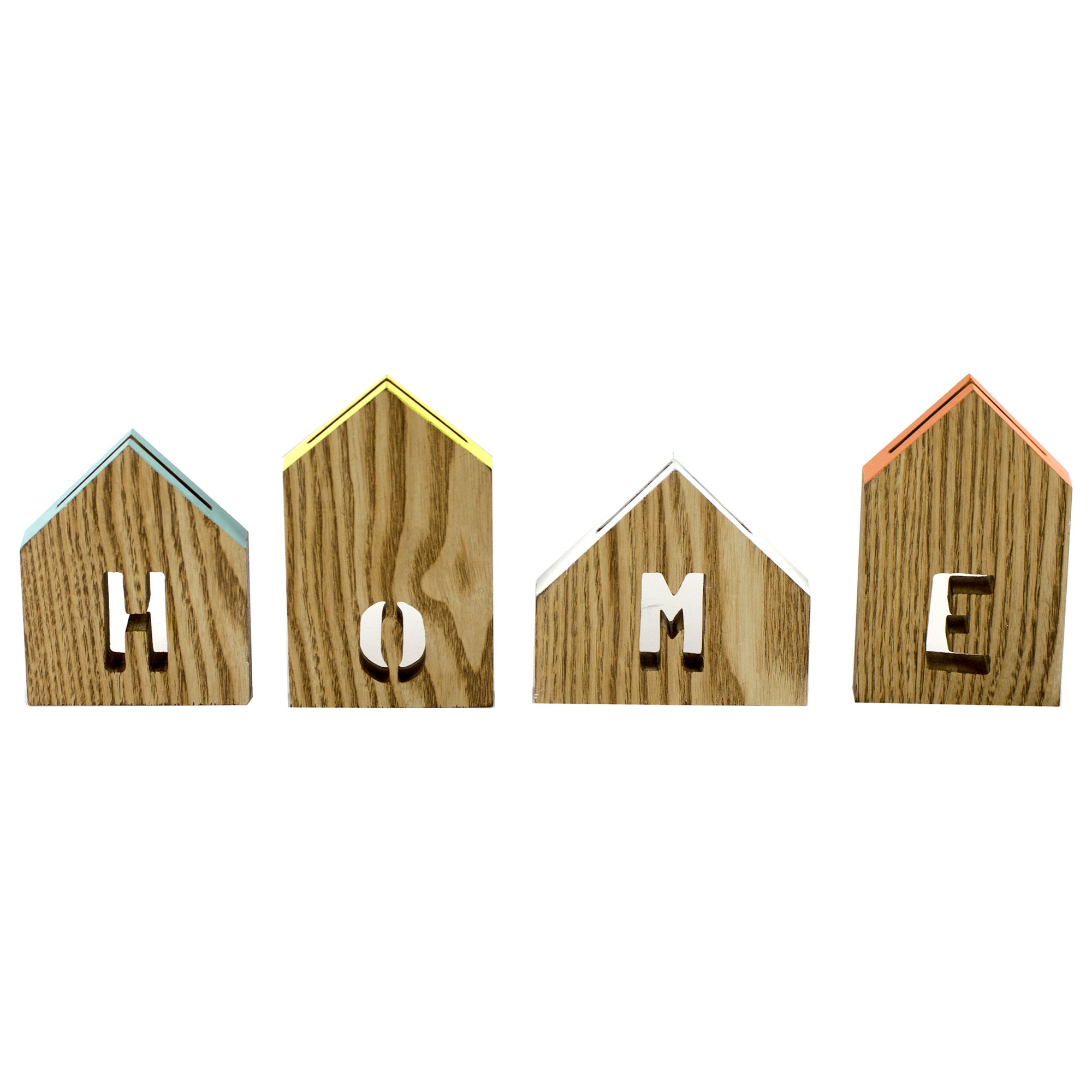 Cosy Skandi Collection Set of 4 Wooden Photo Blocks