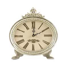 Plum Lalique Mantel Clock
