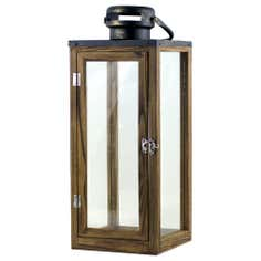 Rustic Ramble Collection Wooden Lantern