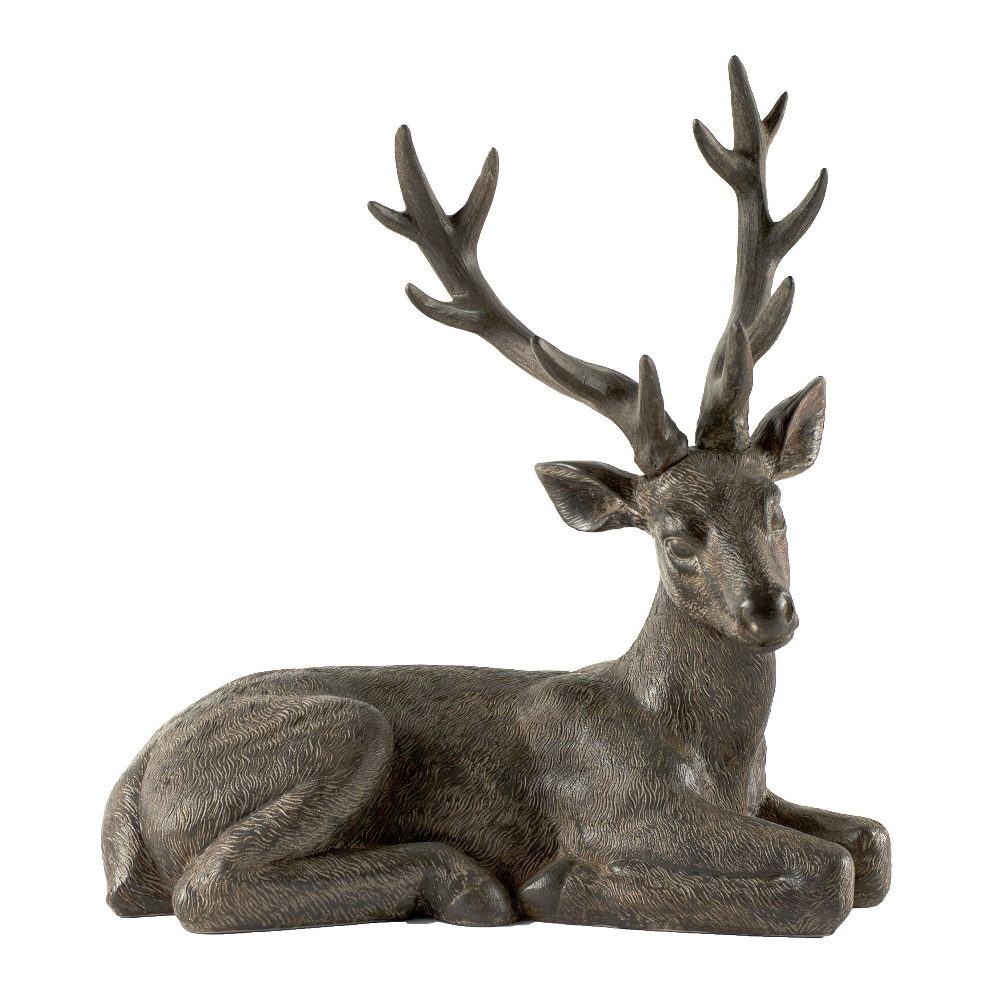 Rustic Ramble Collection Sitting Stag Ornament