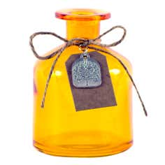 Rustic Ramble Collection Amber Glass Bottle with Charm