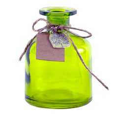 Rustic Ramble Collection Green Glass Bottle with Charm