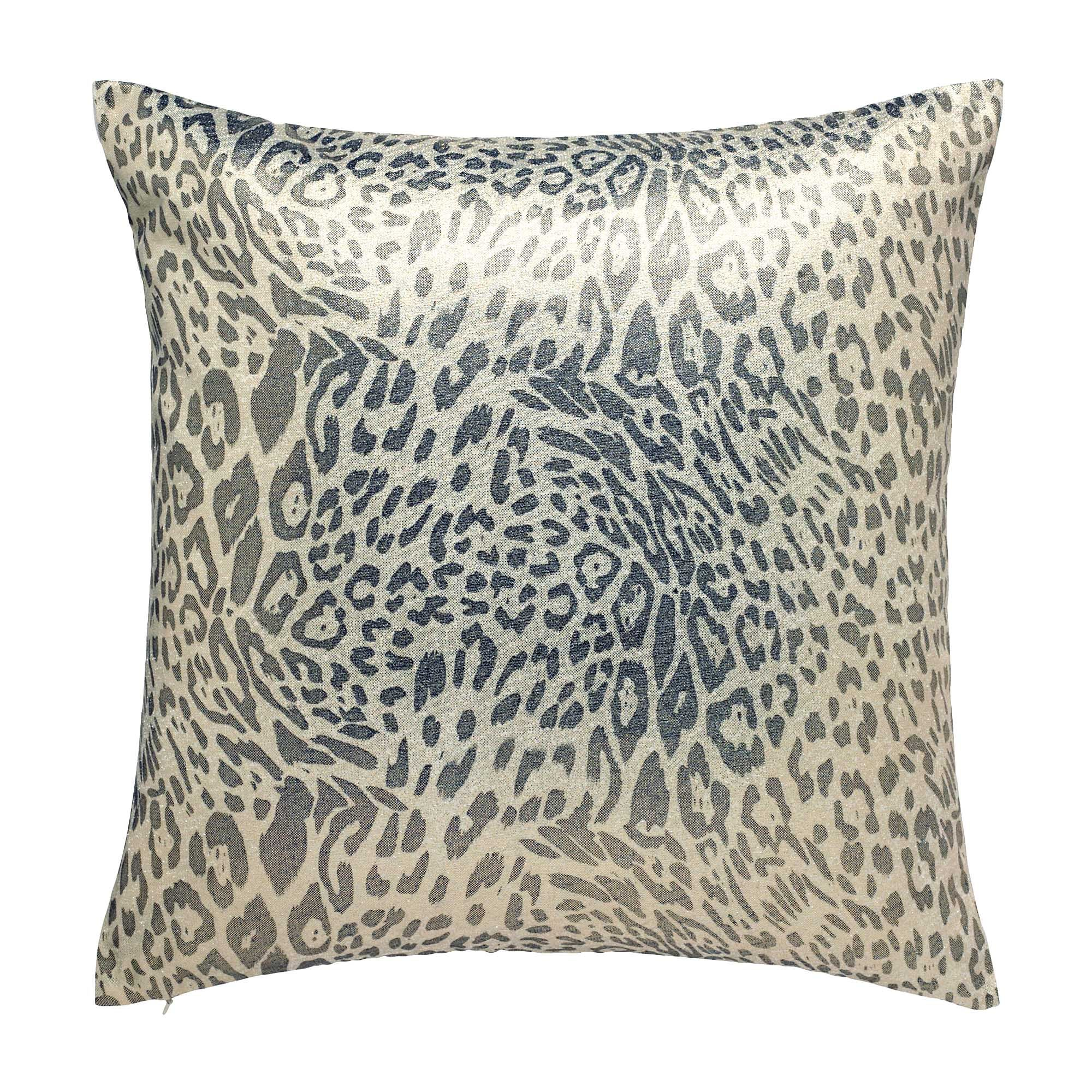 Metallic Leopard Print Cushion