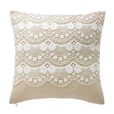 Canvas Lace Cushion