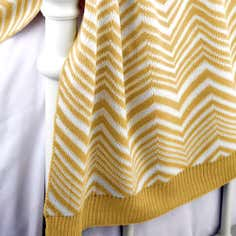 Ochre Zig Zag Throw